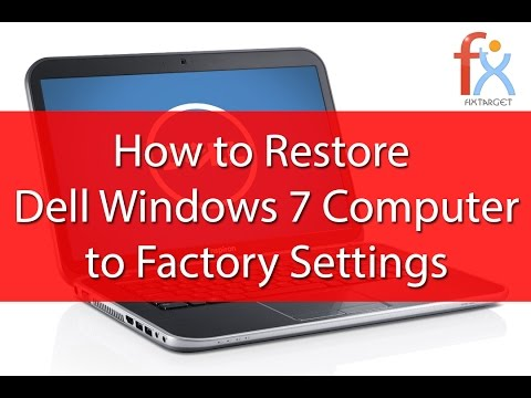 windows 7 factory reset without disk