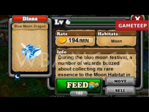 How to breed Blue Moon Dragon 100% Real! DragonVale! WBANGCA!