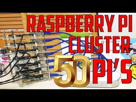Raspberry Pi 3 Cluster (SUPERCOMPUTER)  - 50 NODES!!