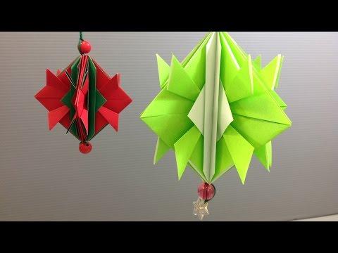 Easy Origami Christmas Ornament Decoration