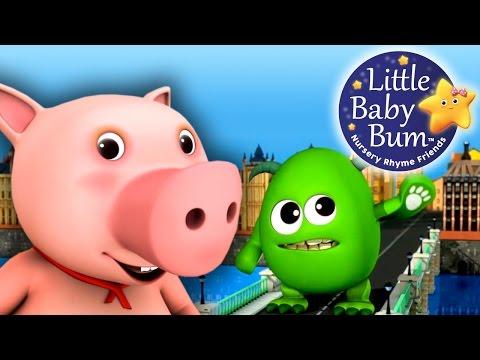 London Bridge Is Falling Down | Nursery Rhymes | by LittleBabyBum!