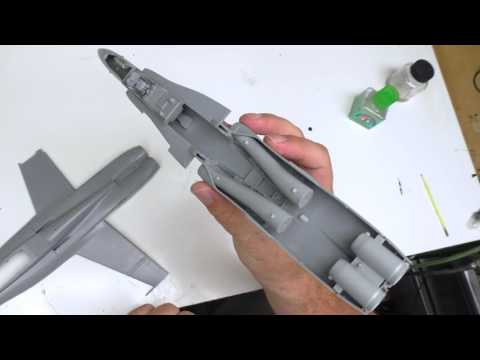 Kinetic F/A-18C Review 4 - Wings + Fuselage
