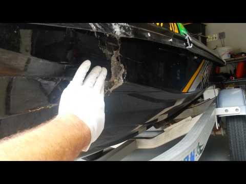 Repair 2009 Waverunner FZS damaged nanoxcell hull