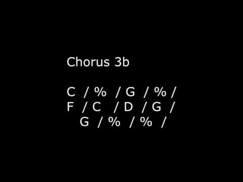 Semi-Acoustic Guitar Backing Track #10: G & C: 4/4 honky-tonk beat
