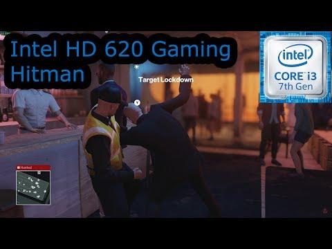 Intel HD 620 Gaming - Hitman - i3-7100U, i5-7200U, i7-7500U, Kaby Lake