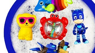 Learn Colors with Bucket, Paw Patrol, Pj Masks, Animals and Barbie for Kids and Children - Learning