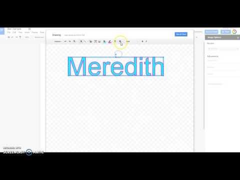 Insertting WordArt in Google Docs