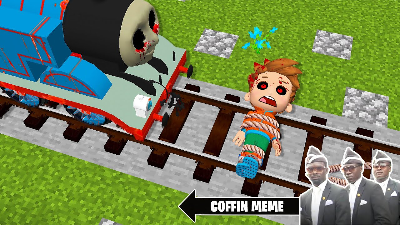 Thomas THE TANK ENGINE.EXE vs PAW PATROL.EXE in Minecraft - Coffin Meme