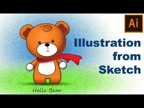 Digital Illustration from Sketch | Adobe Illustrator Tutorial