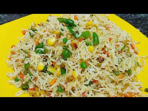 Burnt garlic fried rice recipe corn fried rice Megha's Style-File left over rice for fried rice