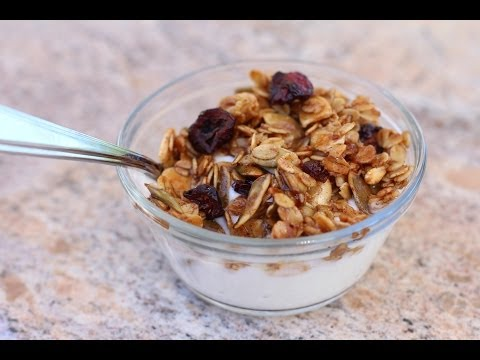 Chewy Granola Made With Healthy Ingredients - by Rockin Robin