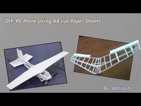 DIY: RC Plane Using A4 Paper sheets