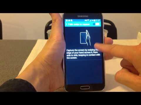Take a screenshot on Samsung Galaxy S5/S6/S7/S8/S9 Using Palm Swipe HD