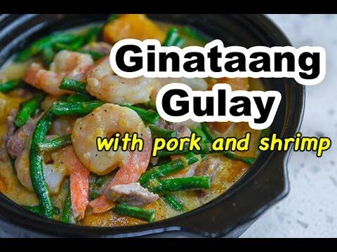 Ginataang Gulay with Pork and Shrimp
