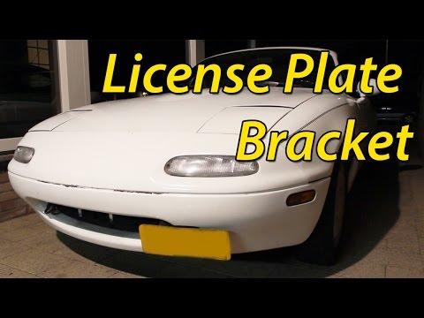 DIY $5 JDM License Plate Relocator Bracket || Boosted Miata Build ||