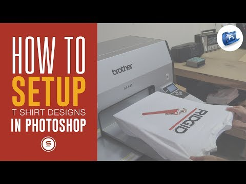 How To Set Up A Custom T Shirt Design In Photoshop Tutorial