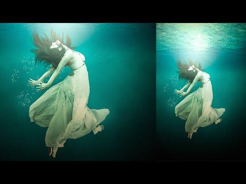Photoshop Tutorial   How to Under Water girl Photo Manipulation