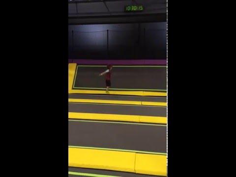 BASE jump front flip