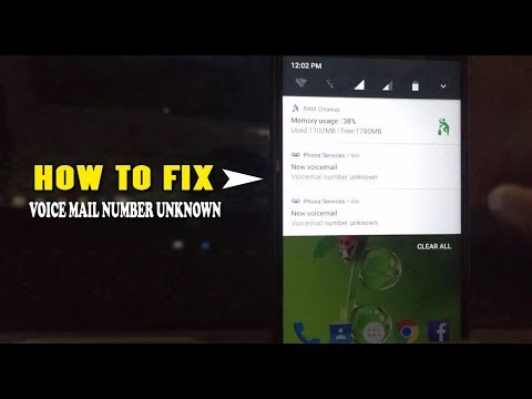 HOW TO SOLVE VOICE MAIL NUMBER UNKNOWN ERROR NOTIFICATION