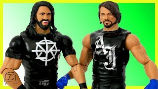 AJ Styles & Seth Rollins WWE Toy Set Tough Talkers Mattel Unboxing & Review!!
