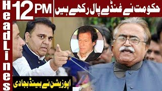 Fawad Chaudhry Called Gangster by PPP | Headlines 12 PM | 15 November 2018 | Express News