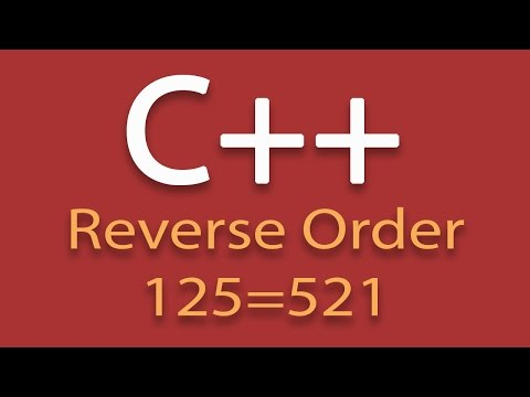 Display A Number In Reverse Order Using C++