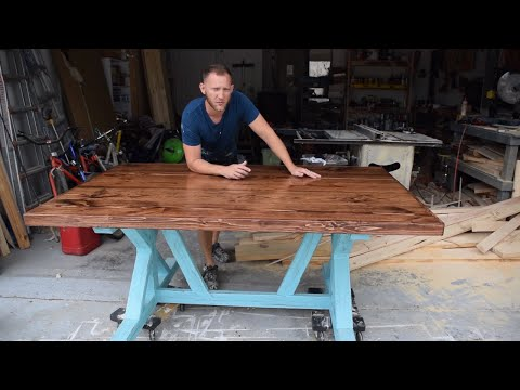 How to build a Farmhouse Table - trestle style X frame - DIY