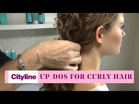 3 simple up-do styles for curly hair