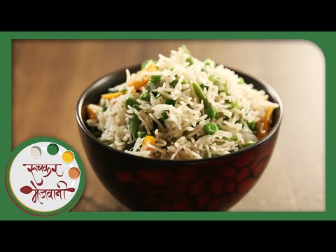 Quick Veg Pulao - Indian Recipe by Archana - Popular Spicy Main Course Rice in Marathi