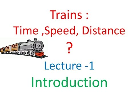 Trains - Time,speed,distance Lecture-1- Introduction