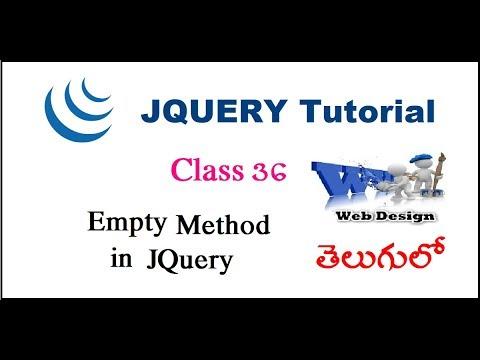 Empty method in jQuery Telugu-33-vlr training