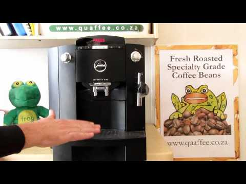 How to run the cleaning process on a Jura Impressa XF50 or F50