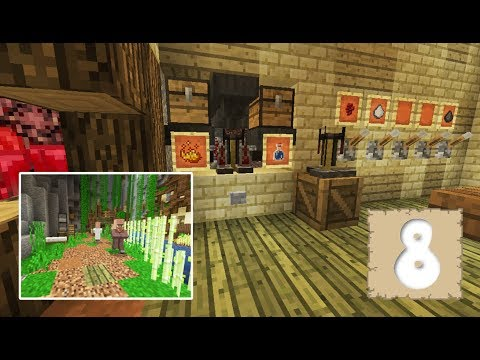 AUTOMATIC BREWING & POPULATING RAVINE TOWN! - Survival Let's Play Ep. 8 - Minecraft 1.2