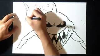 Graffiti Boceto: Cómo dibujar Tiburón