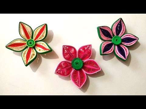How To Make Beautiful 3D Flower Using Paper Art Quilling