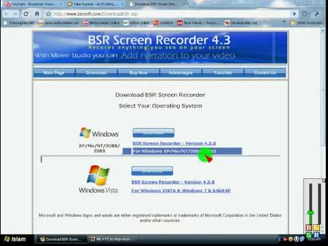 Where to download BSR recorder for XP/Me/NT/2000/2003/vista/window 7/64 bit XP