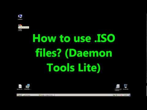 How to use ISO files? (Daemon tools lite)