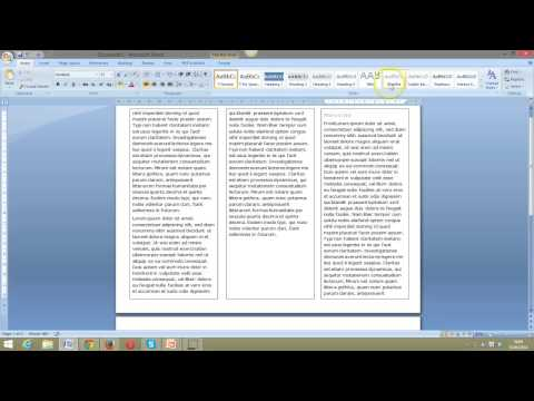 Create a simple 3 fold leaflet in Word