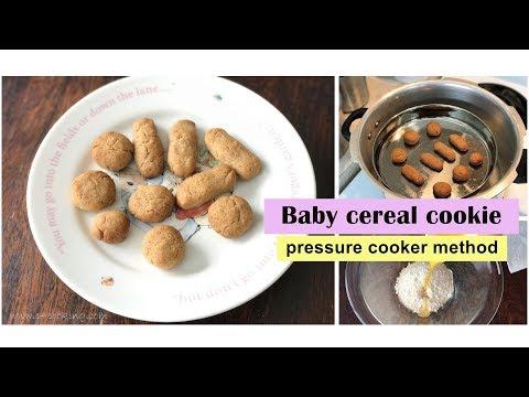 Baby Cereal cookie ( Pressure cooker method ) fingerfood / teething biscuit for 2+ teeth baby