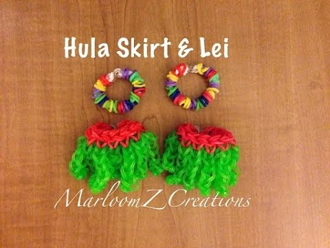 Rainbow Loom Hula Skirt and Lei: How To: