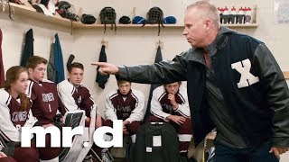 Gerry gives a pep talk to his hockey team | Mr. D