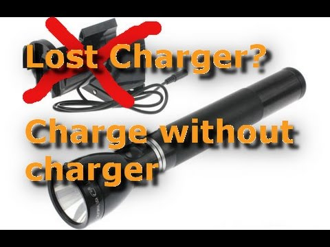 How to Charge a Maglite without its charger - Lost/Broken Charger