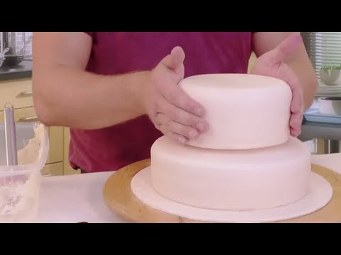 Stacking A Two Tiered Cake