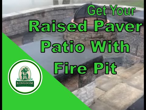 Raised Paver Patio with Fire Pit