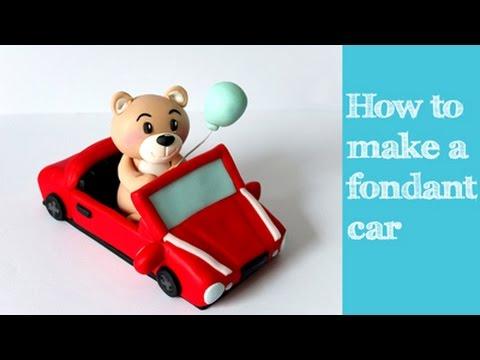 How to make a fondant car tutorial / Jak zrobić samochód z masy cukrowej