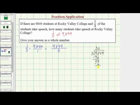 Ex: Fraction Application - Fraction Times a Whole Number