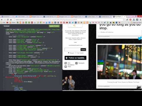 Tumblr Temada Menü Sabitleme | Fixed Sidebar