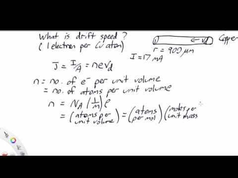 Drift speed calculation