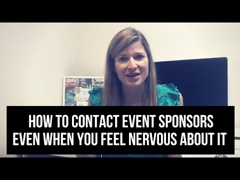 How to contact event sponsors even when you feel nervous about it