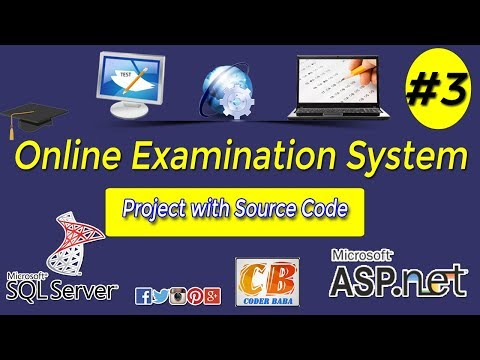 Online Examination System project in ASP.NET with C# Part 3